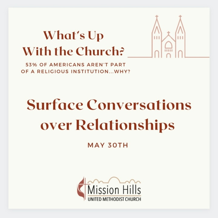 What's Up With Church: Surface Conversations OverRelationships